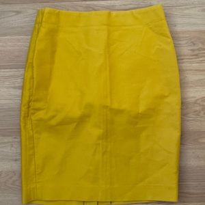 J. Crew No. 2 pencil skirt mustard yellow
